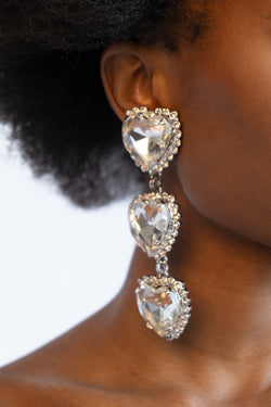 Alessandra Rich Crystal Drop Clip On Earrings | New with box and dust bag (Est. retail