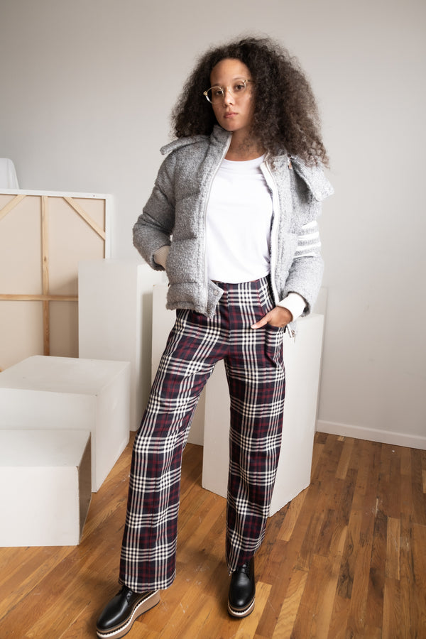 Victoria Beckham Plaid Trousers