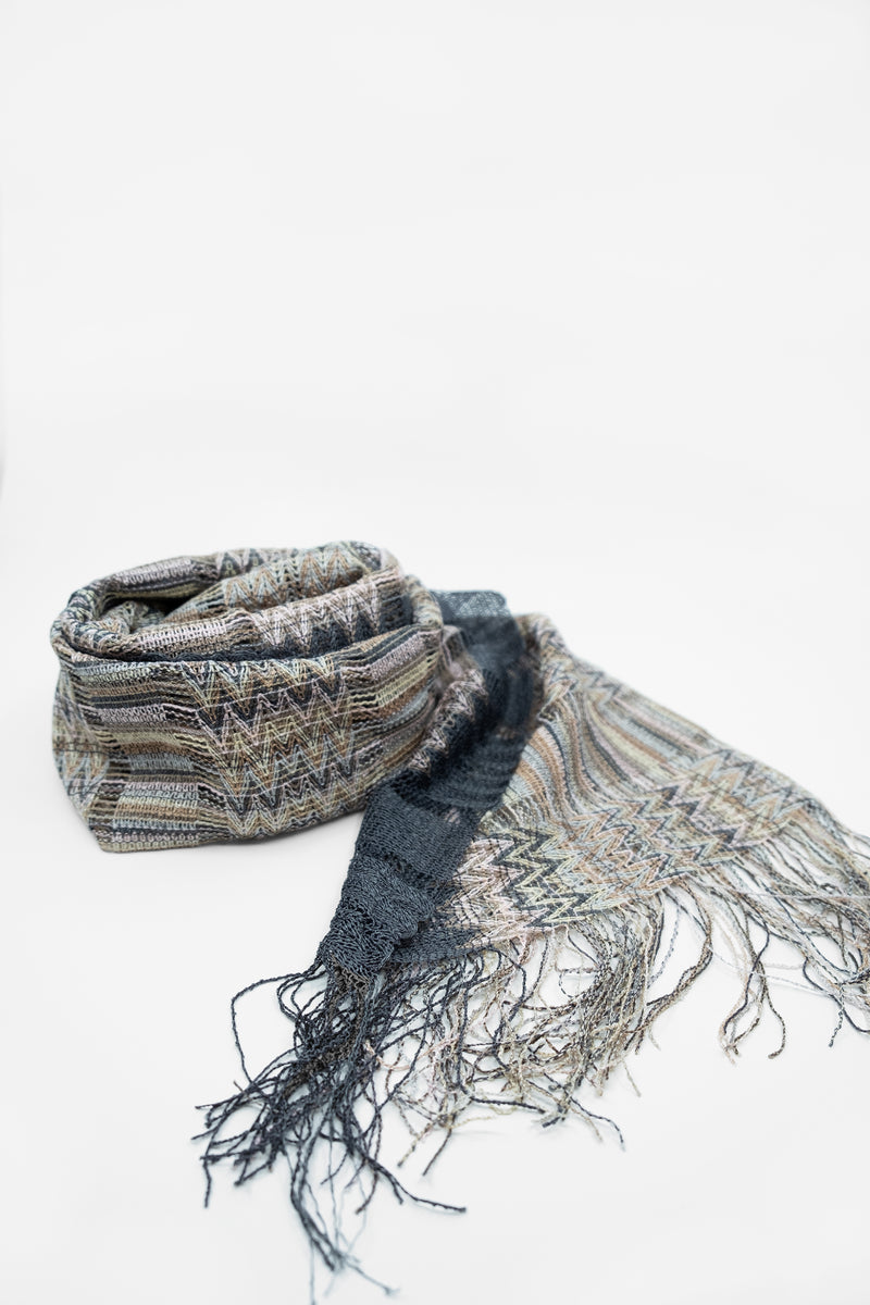Missoni Knit Crochet Scarf