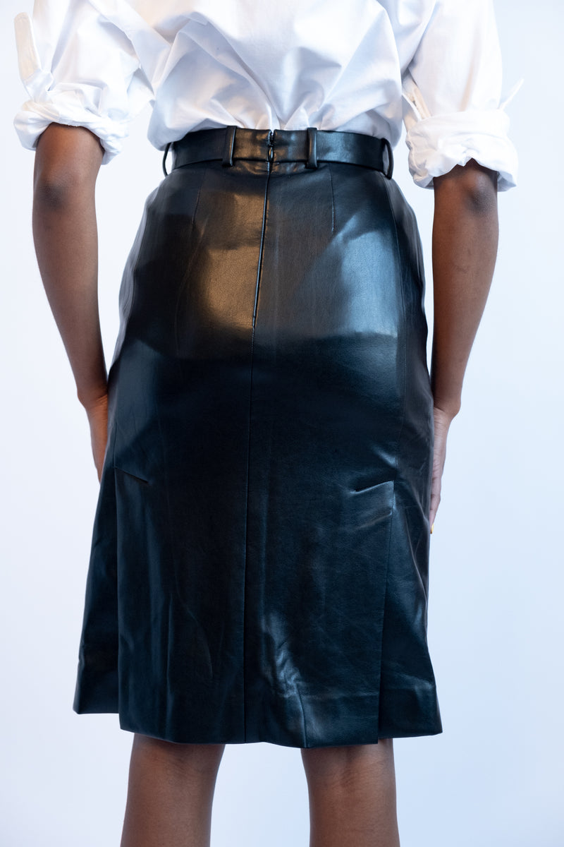 Sonia Rykiel Leather Skirt