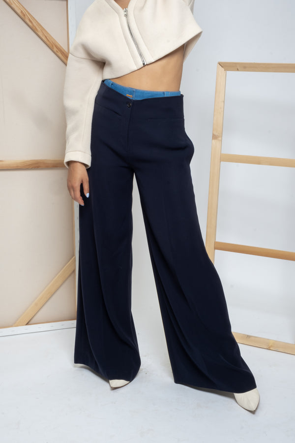 Adeam Double-Waisted Wide Leg Pants