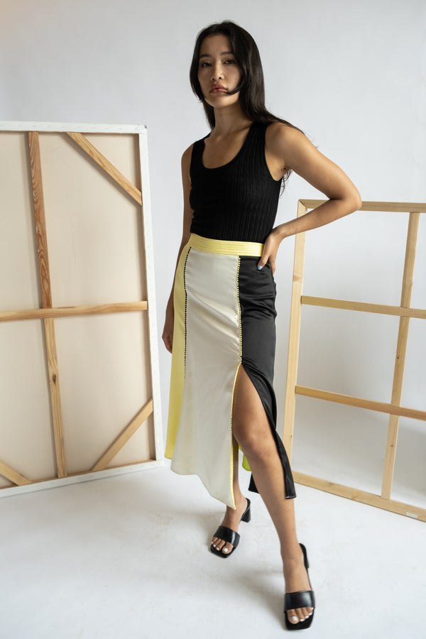 Stine Goya Color Blocked Skirt