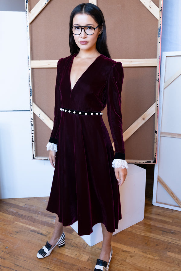 Philosophy di Lorenzo Serafina Velvet Midi Dress