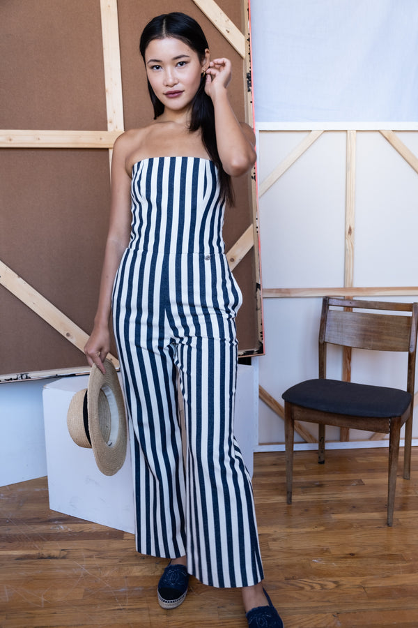 Chanel Striped Jumpsuit