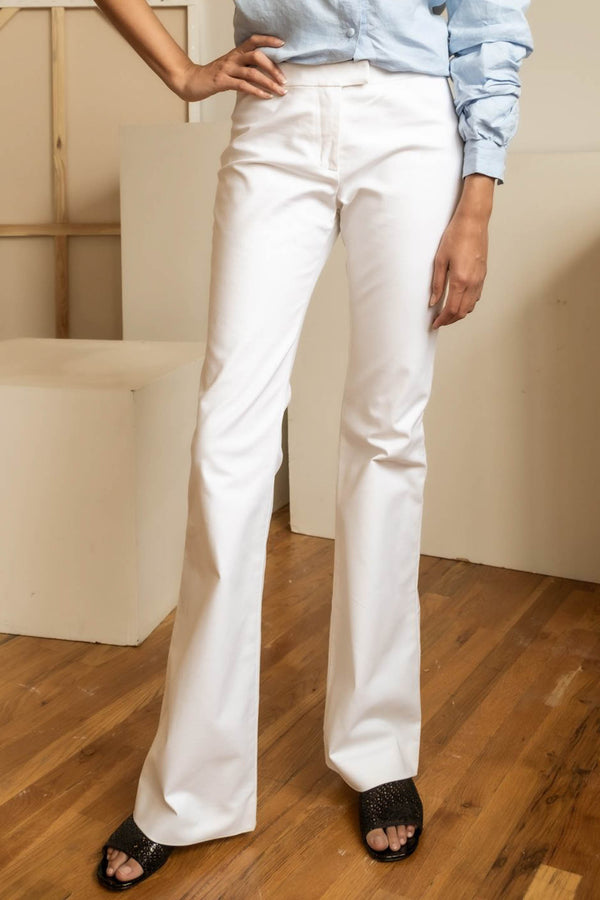 Derek Lam 10 Crosby White Flare Pants