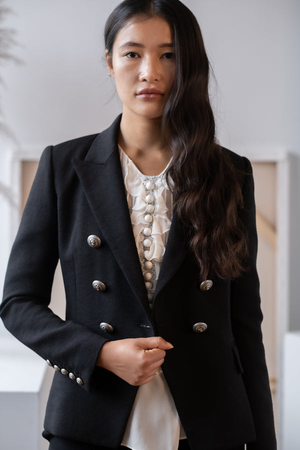 Balmain Double Breasted Black Blazer
