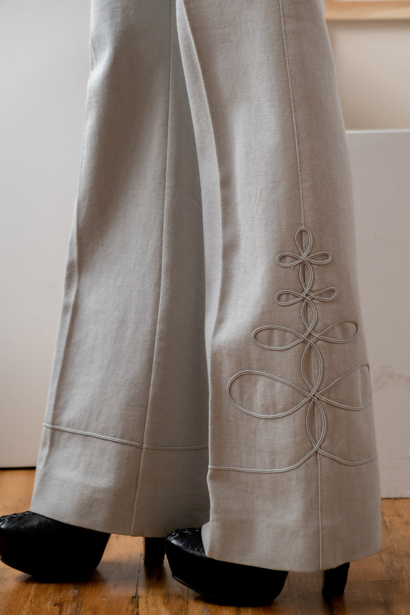 Givenchy Embroidered Flare Pants