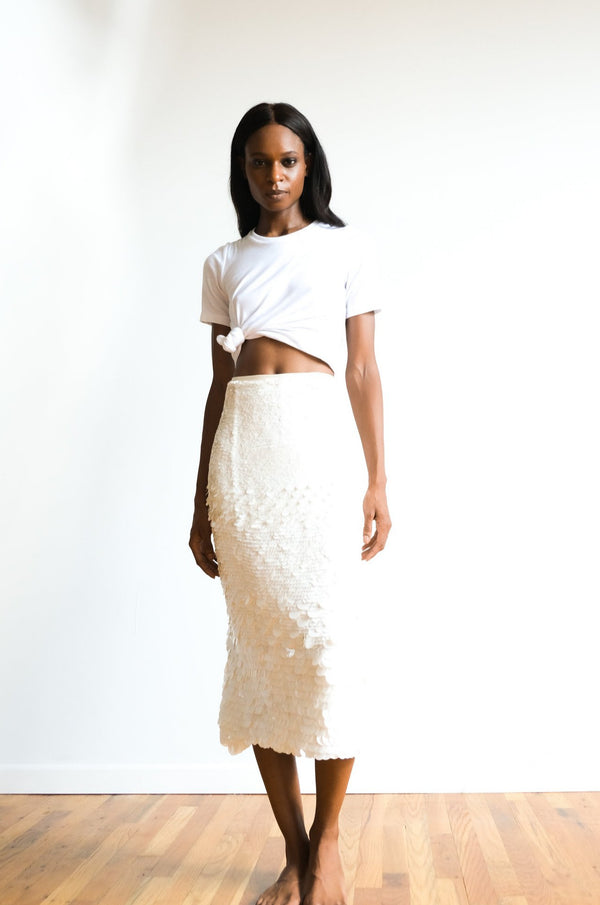 Sally LaPointe Sequin Midi Skirt