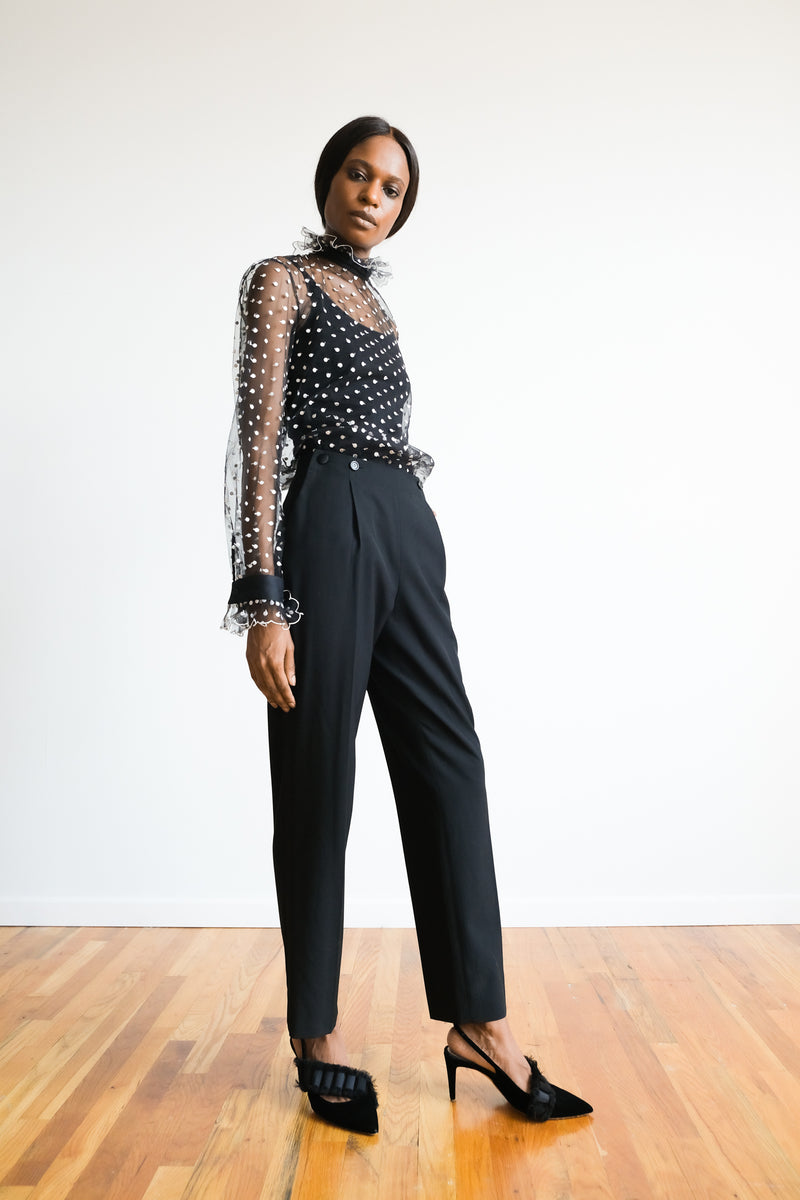 Philosophy Di Lorenzo Serafini Sheer Polka Dot Top