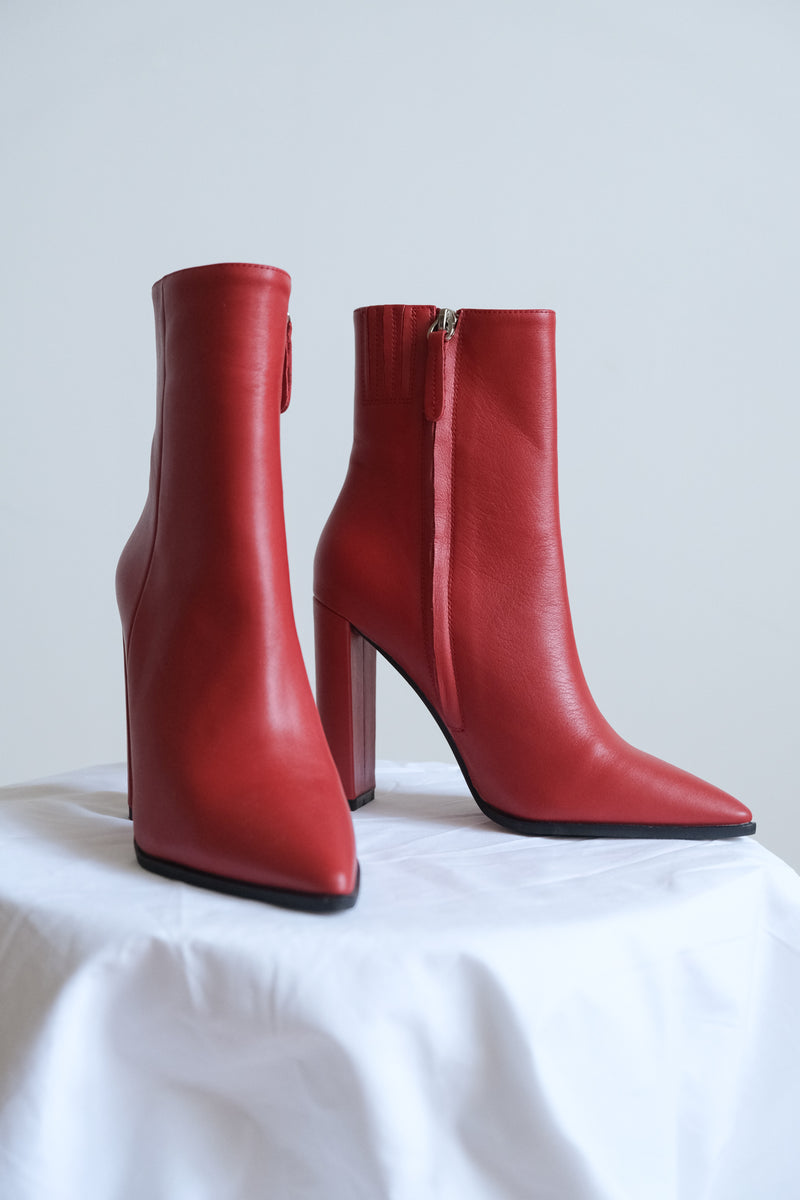 Alias Mae Red Ankle Boot