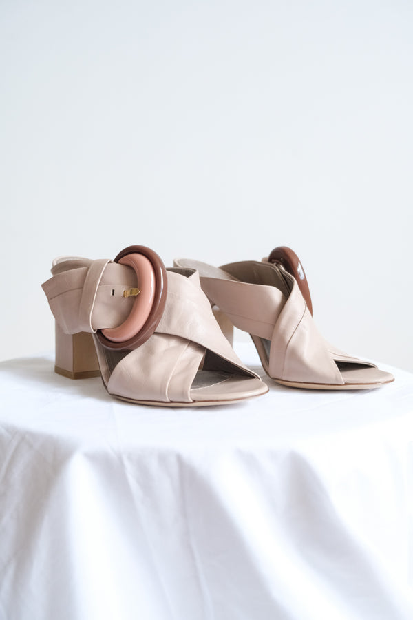 AGL Mule Sandal with Buckle (est retail $400)