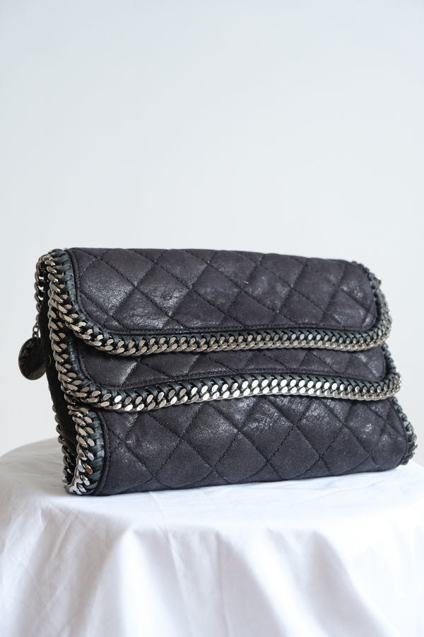 Stella McCartney Shaggy Deer Falabella Foldover Clutch