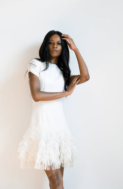 Jonathan Simkhai Macramé Mini Dress