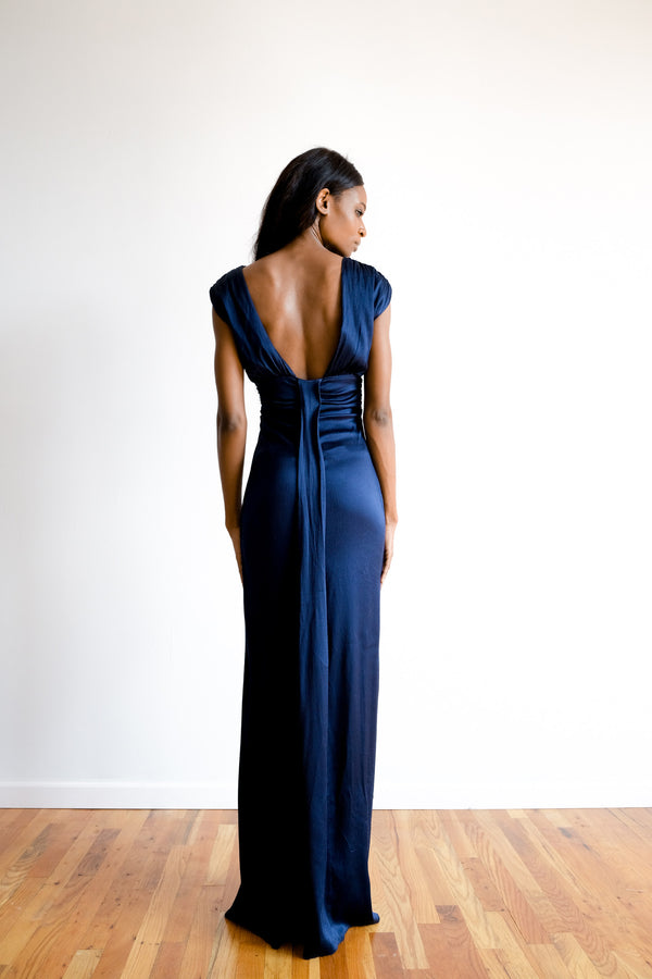John Paul Ataker Textured Silk- Satin Gown