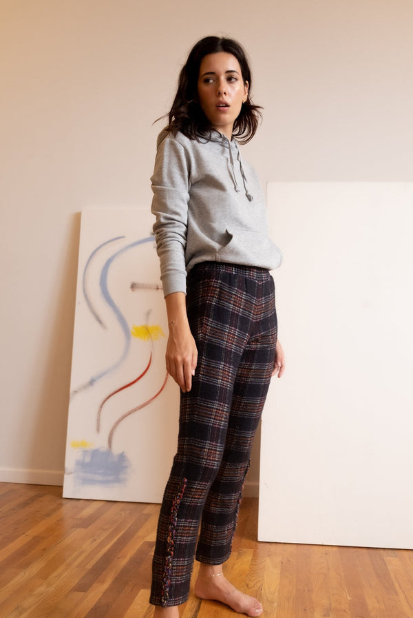 Chanel Cashmere and Wool Tartan Pants