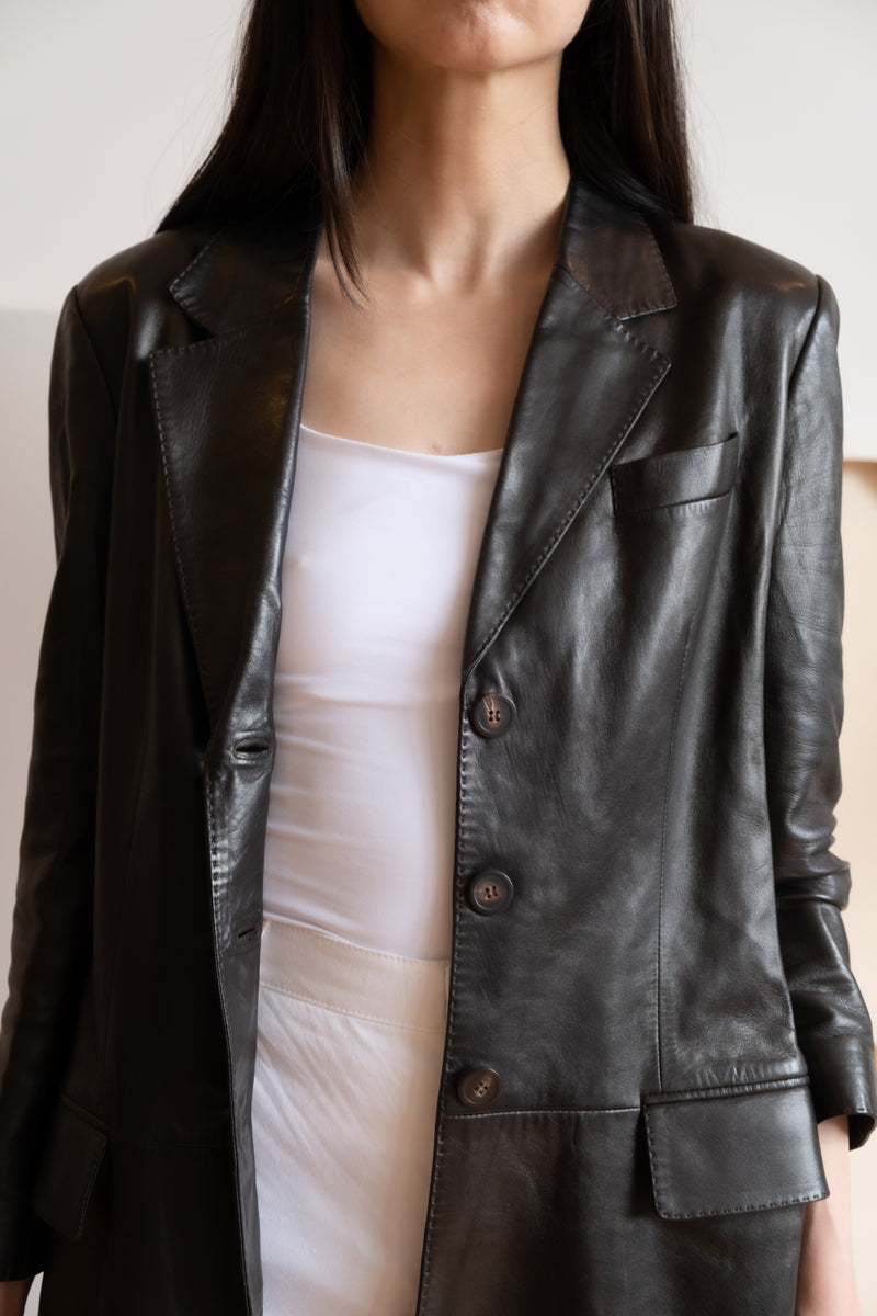 YSL Leather Trench Coat
