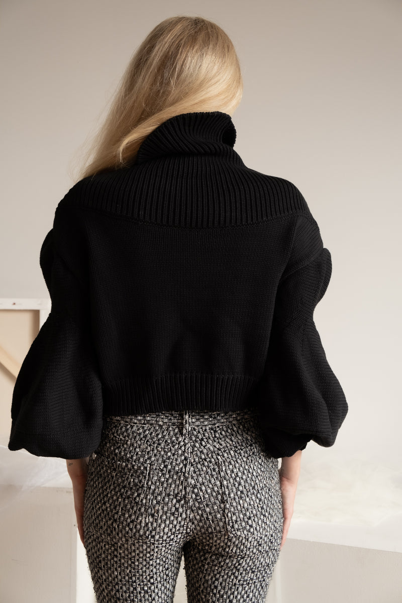 Oscar de la Renta Cropped Sweater