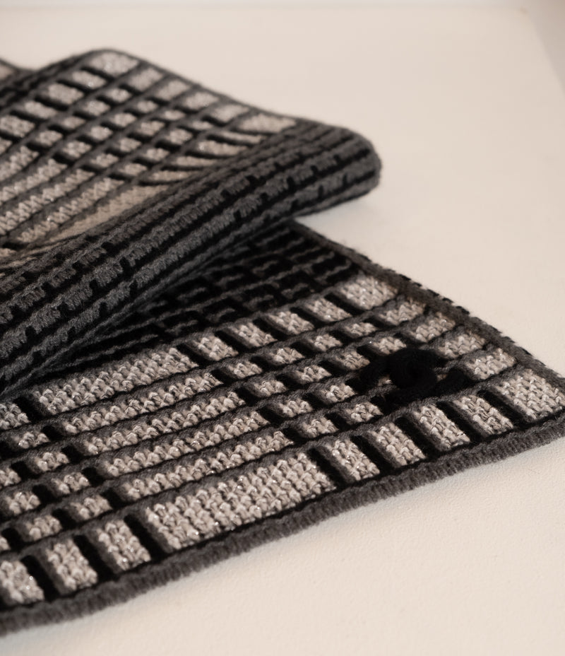 Chanel Metallic Knit Wool Scarf | New with box