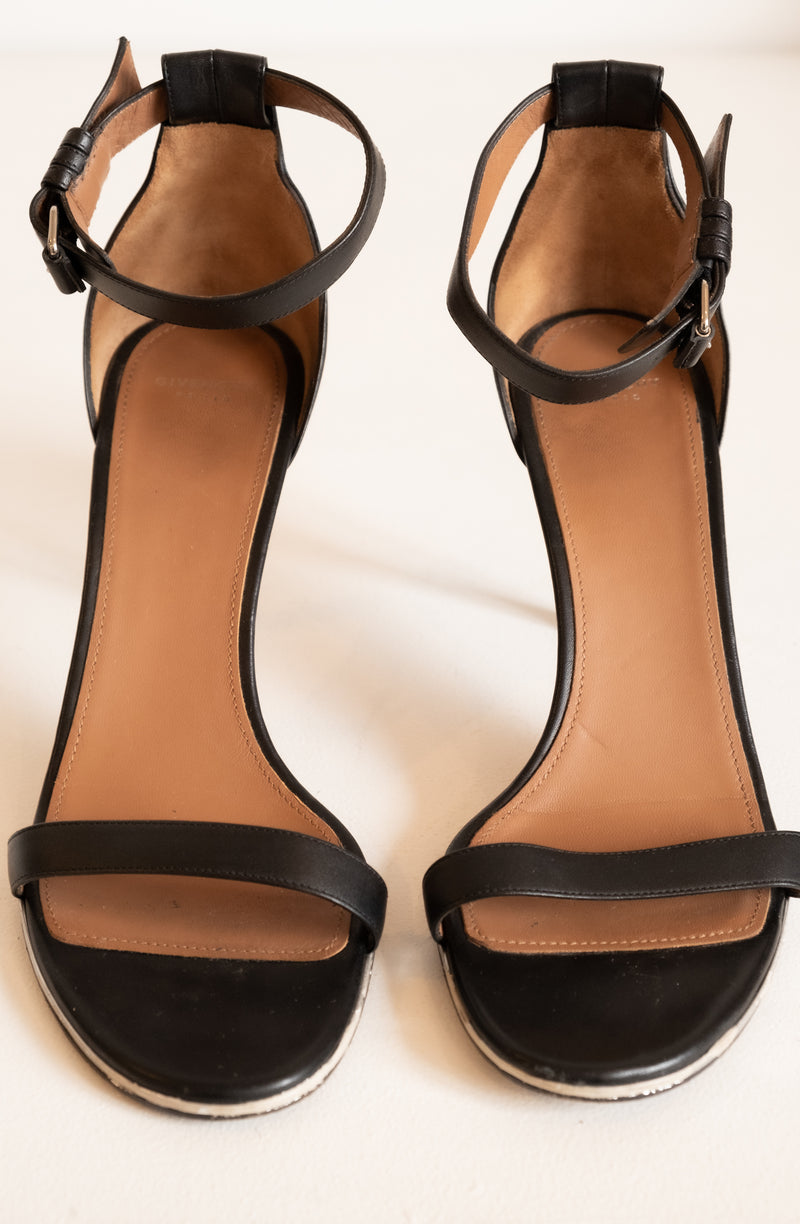 Givenchy Ankle Strap Leather Sandals