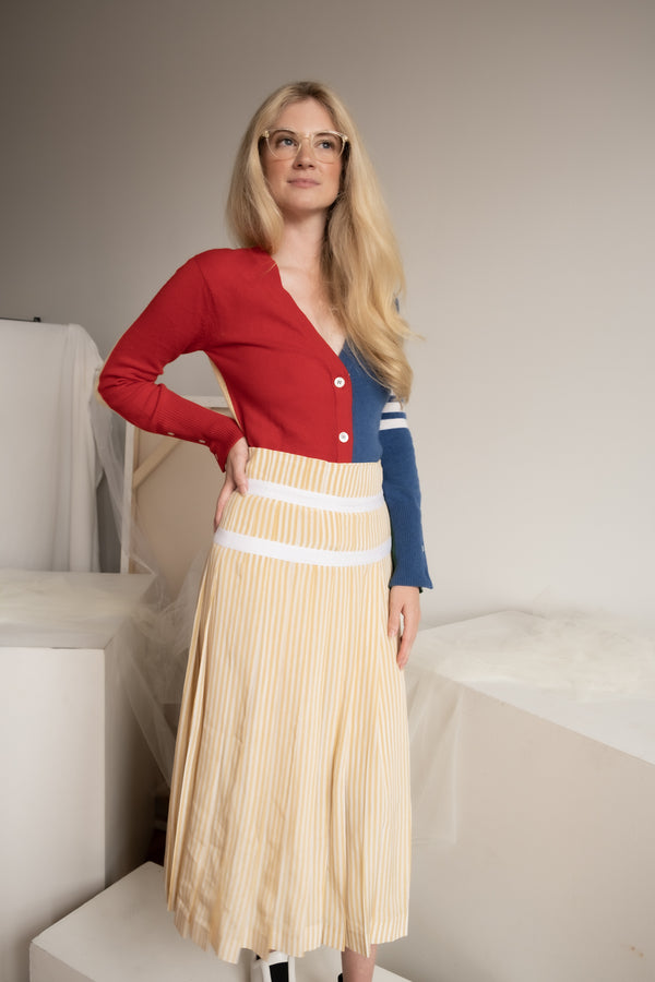 Joseph Striped Silk Skirt | New with tags (est. retail $482)