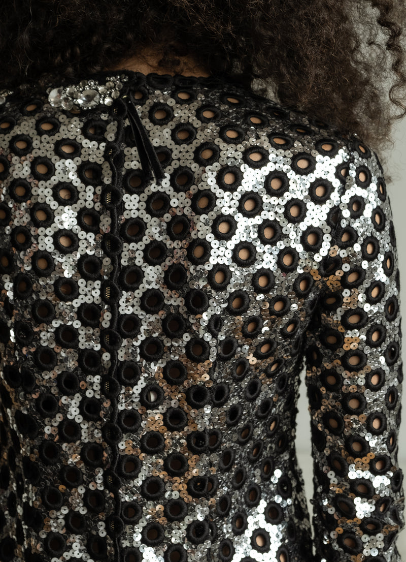 Marc Jacobs Sequin Eyelet Mini Dress (est. retail $3,400)