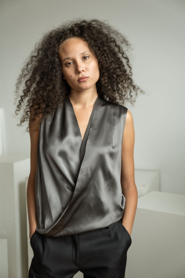 DVF Silk Satin Top