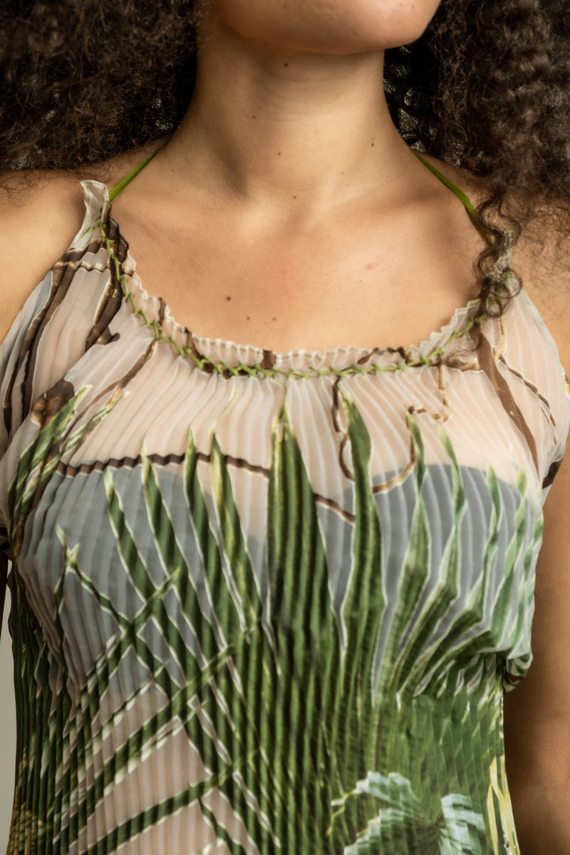 Jean Paul Gaultier Silk Palm Halter