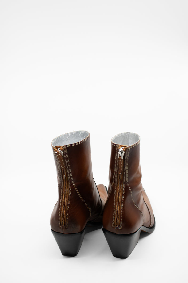Givenchy Brown Pointed Toe Leather Boots