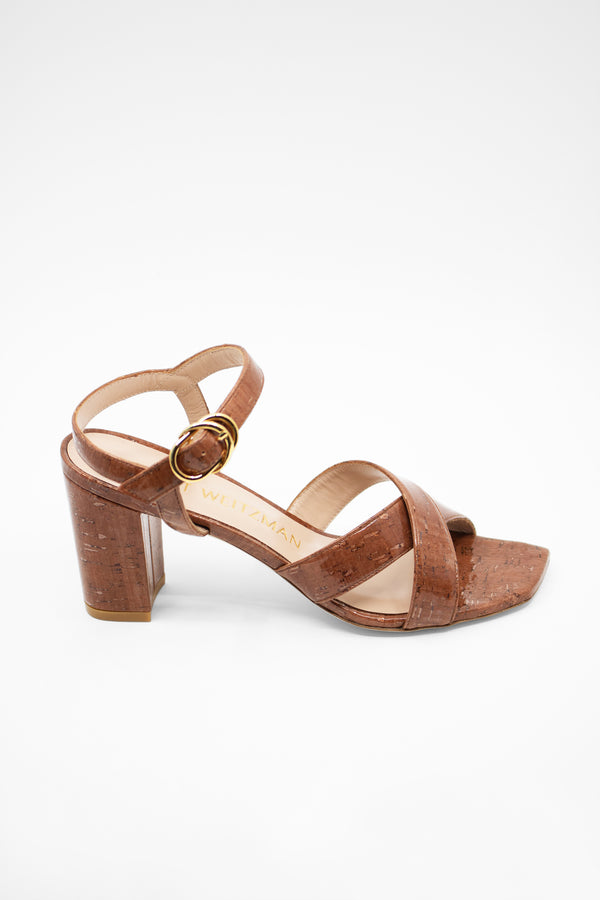 Stuart Weitzman 'Analeigh' Easy Cork Ankle-Strap Sandals | New with box (est. retail $394)