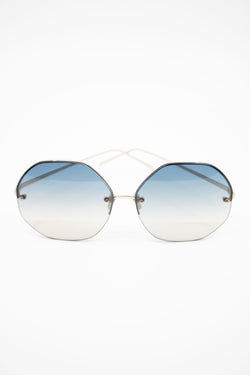 Linda Farrow Geometric Ombre Sunglasses