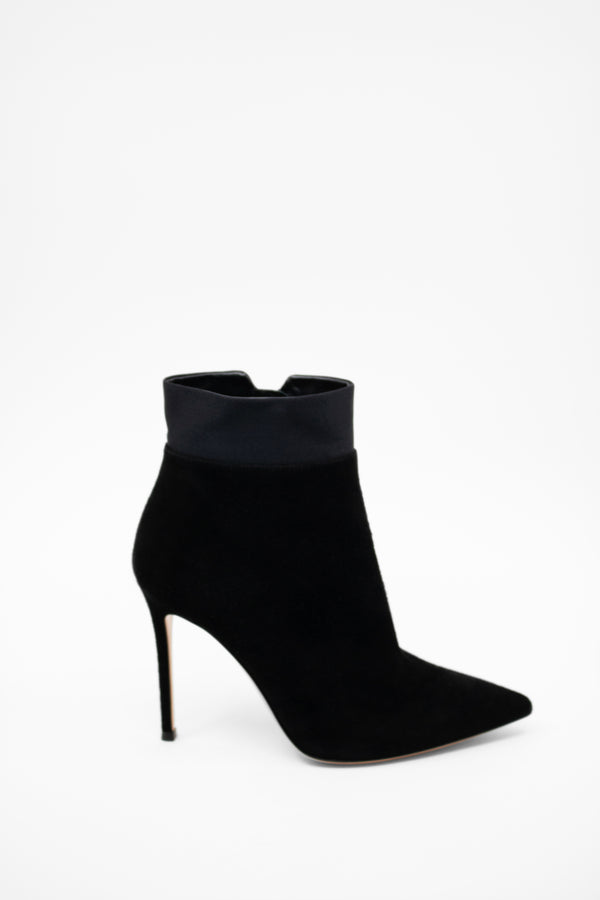 Gianvito Rossi Suede and Satin Booties