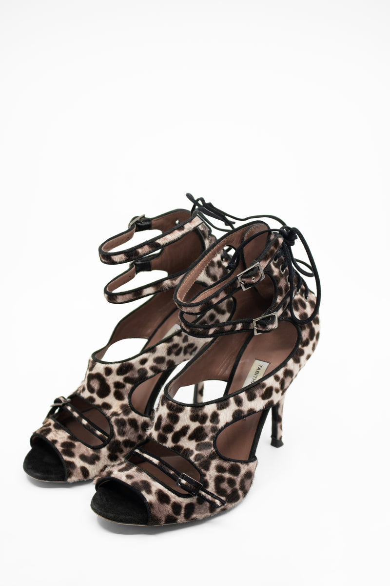 Tabitha Simmons Leopard Calf Hair Pumps