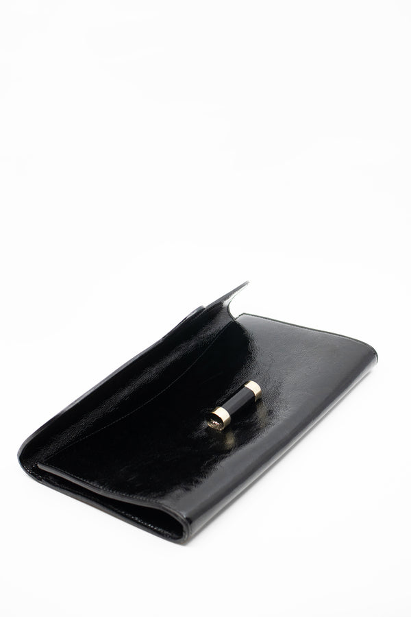 Yves Saint Laurent Patent Leather Envelope Clutch