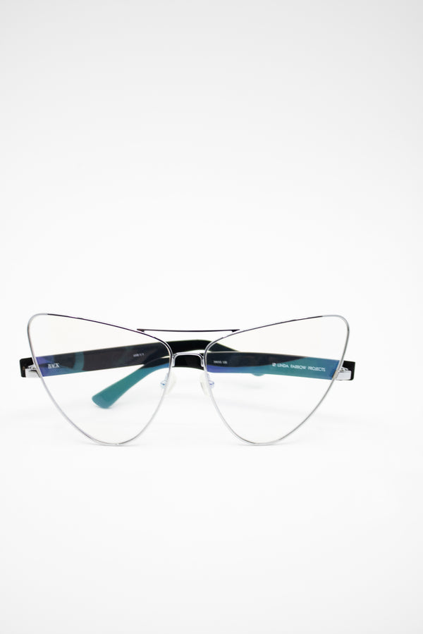 Linda Farrow x Back Cat-Eye Glasses