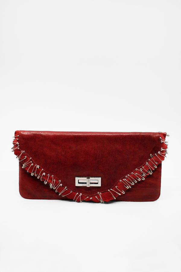 Balmain Safety Pin Clutch