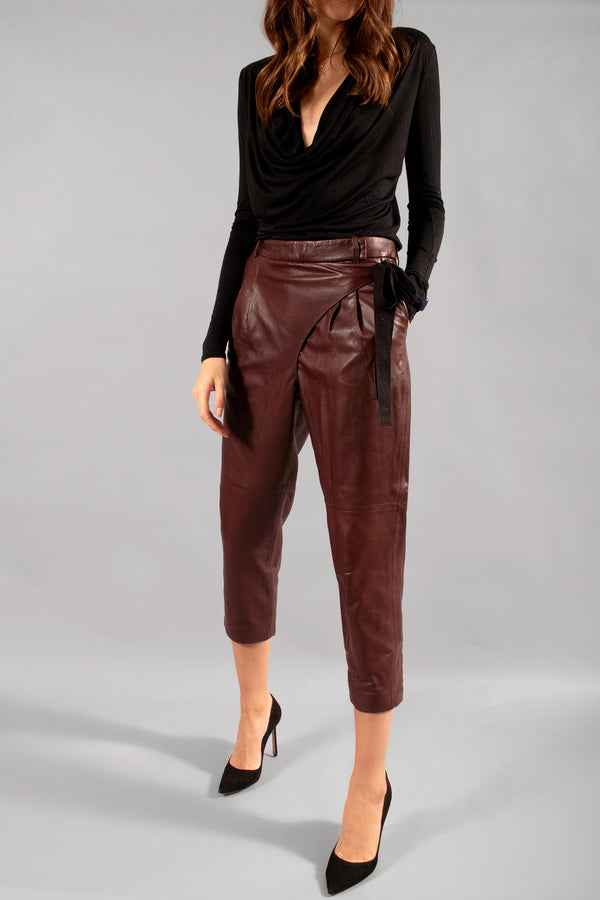 Tibi Leather Pants
