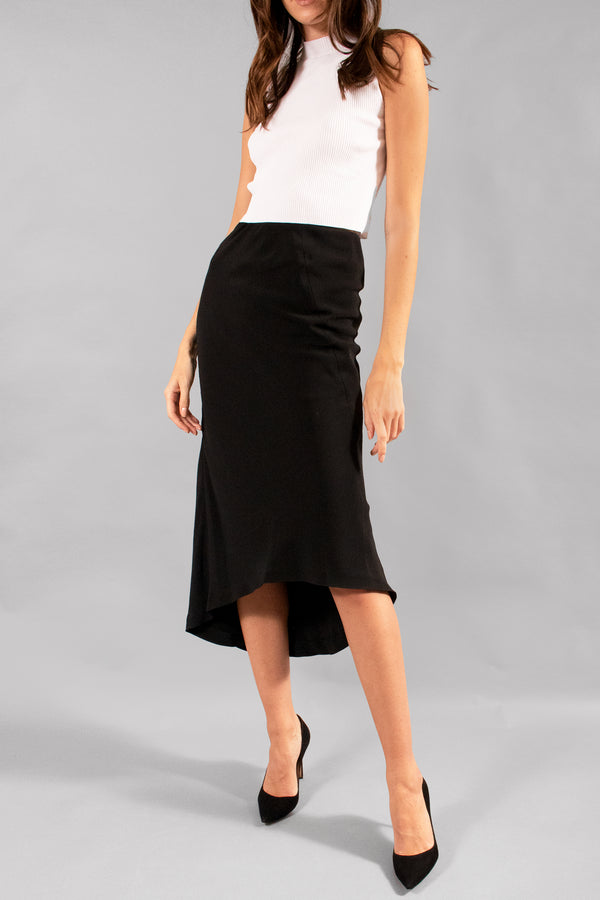 Haider Ackermann Asymmetrcial Drape Pencil Skirt