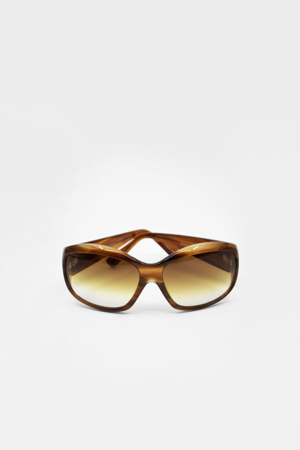 Oliver Peoples Rounded Tortoise Sunglasses