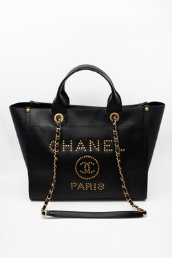Chanel Deauville Caviar Leather Tote