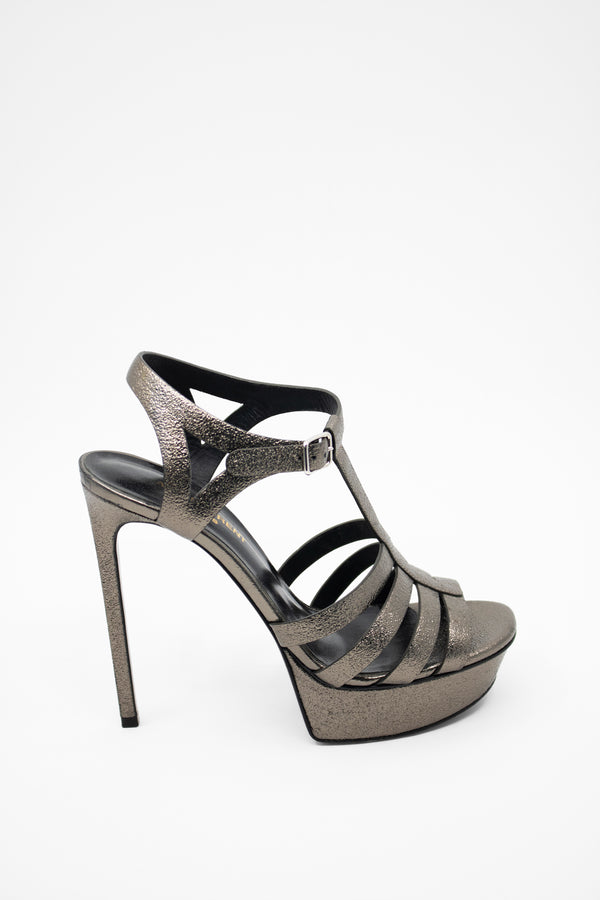 Saint Laurent Metallic 'Bianca' Platform