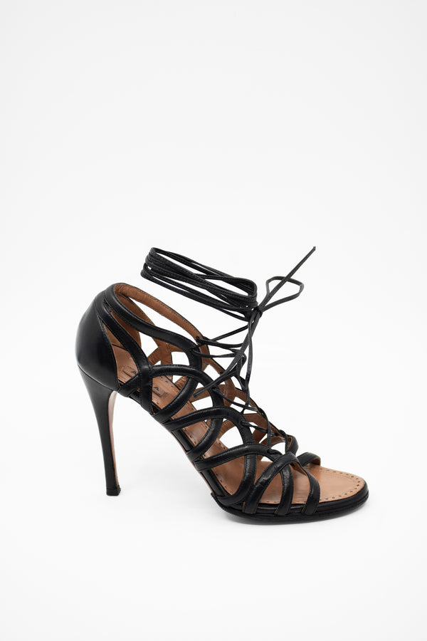 Alaïa Lace Up Stiletto