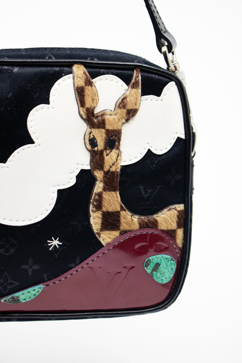 Louis Vuitton 'Giraffe Conte De Fees' Pochette Suede, Satin and Leather Bag (Est. retail $1,700)