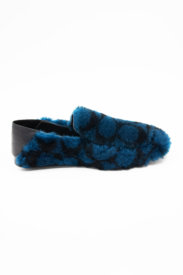 Coach Faux Fur and Leather Slippers (Est. retail $165)