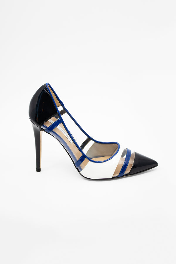 Diane Von Furstenberg PVC and Patent Pumps