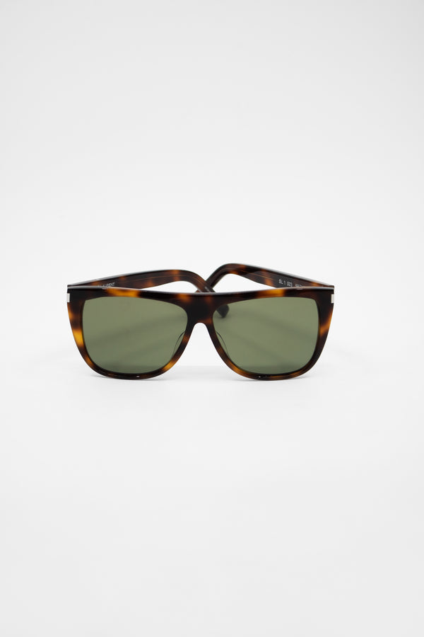 Saint Laurent SL 1 Tortoise Square Sunglasses