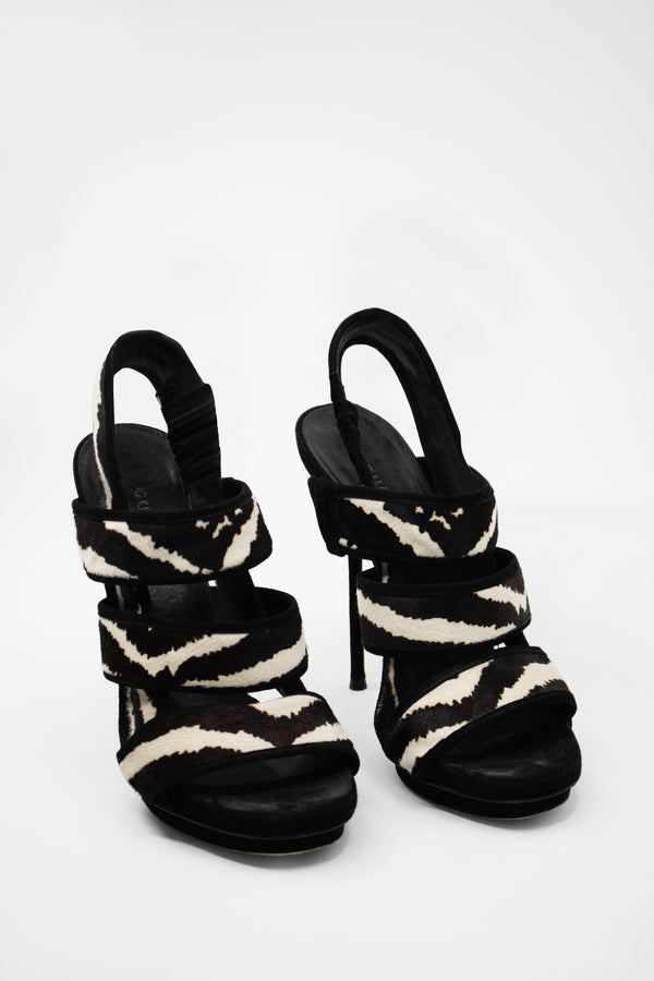 Gucci Zebra Heeled Sandals