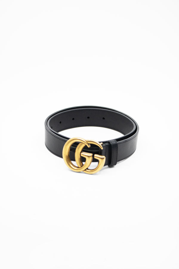 Gucci Black Leather Belt (Est. retail $470)