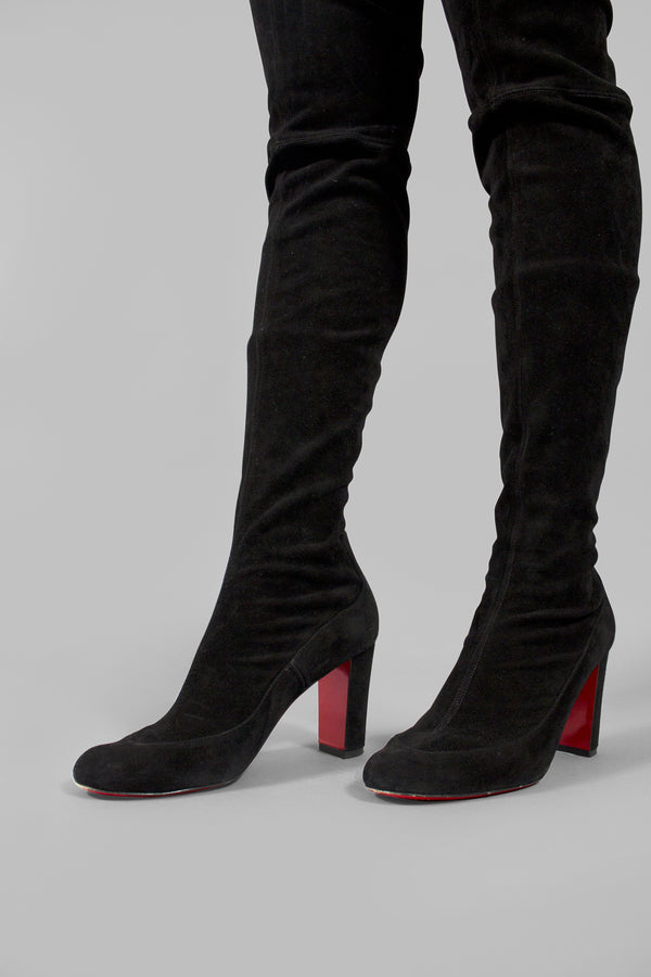 Christian Louboutin 'Kiss me Gena' 85 Thigh High Boots (Est. Retail $1,790)