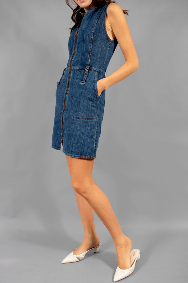 See by Chloé Denim Zip-Front Dress (Est.Retail $385)
