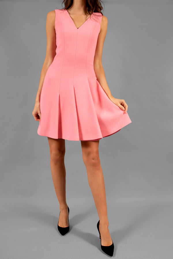 Christian Dior Pink Wool Crepe Dress